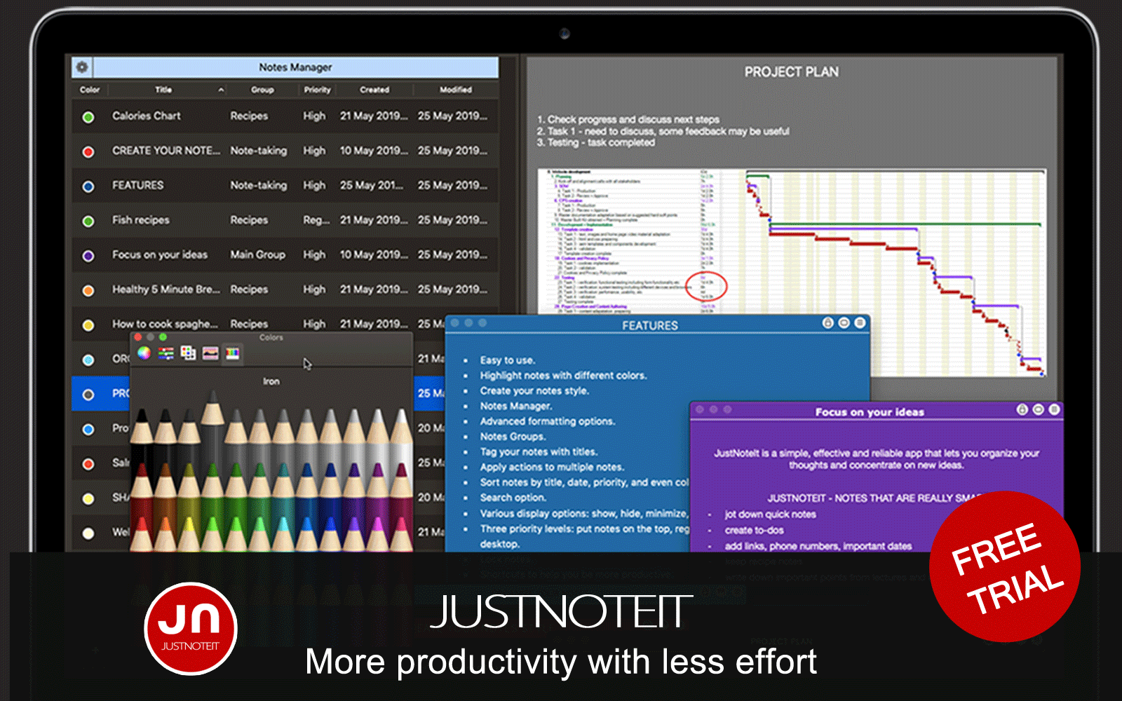 JustNoteIt - Note taking solution for professionals